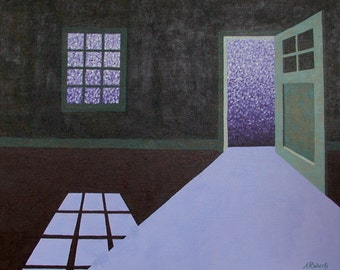 80% Off Sale Starry Night Light Original Acrylic Painting, Home Decor, Starry Painting, Night Painting