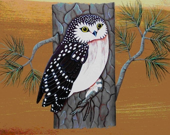 Sawhet Owl Folk Art Pattern