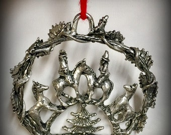 Santa on Horseback Ornament