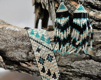 Southwestern Bracelet and Earrings