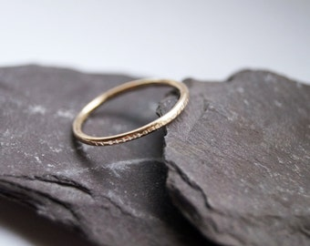Hammered Stacking 12K Gold Filled Stacking Ring ~ stacking ring, gold, gold filled, hammered, textured, stackable, wedding band