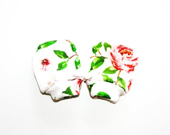 Mittens, Baby Mittens, organic baby gift, organic cotton, baby accessories, baby shower gift, fingerless gloves, newborn accessories,  mitts