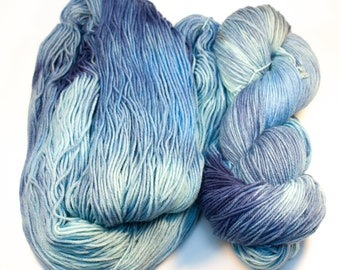 Hand Dyed Superwash Merino Sock Yarn - SUPER SQUISHY! - Wild Blue Yonder