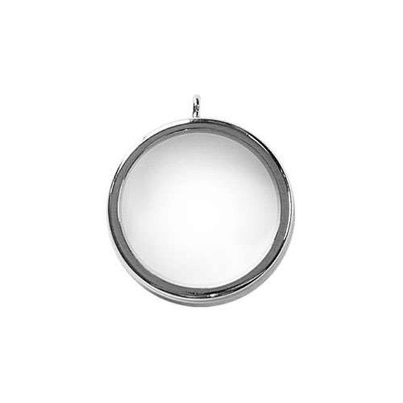 Silver Looking Glass Bezel, embellish this with polymer clay, resin, crystals, beads and more.