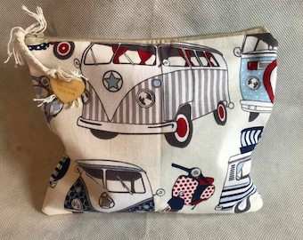 Handmade Small Campervan Zip Bag