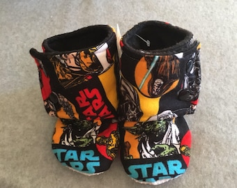 Star Wars Comic Stay On Baby Booties