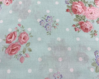 Rose crib sheet, Changing pad cover, Crib skirt, floral nursery bedding
