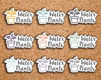 30 Water Plants, Plant Care Icon Planner Stickers for 2017 Inkwell Press IWP-DC60