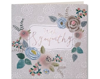 SALE 20% OFF Chroma Collection - Sympathy - Thinking of you - Condolences - With Sympathy card - With Sympathy - Floral - CH24