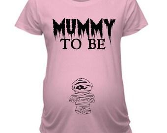 Mummy Maternity Shirt, Pregnancy Shirt For Halloween, Maternity Tee Shirt Halloween, Graphic Maternity Tees, Mummy Pregnancy Shirt, Baby Tee