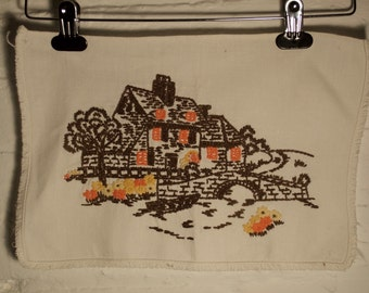 Funky Vintage Log Cabin Embroidery