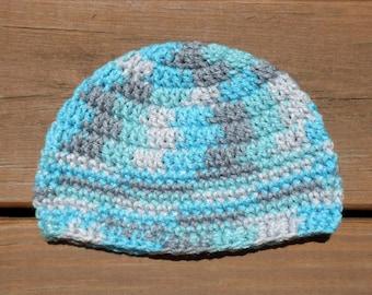 Bébé Bonnet, bonnet bleu, Crochet Cap, bonnet enfant en bas âge, garçon infantile, nouveau-né garçon Prop, petits, Baby Blue Hat, chapeau islandais, article de bébé