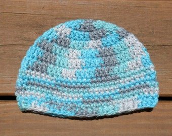 Baby Boy Hat, Blue Beanie, Crochet Cap, Toddler Boy Hat, Infant Boy, Newborn Boy Prop, Little Ones, Blue Baby Hat, Icelandic Hat, Baby Item