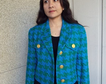 Don Caster Woven Jacket with Gold Buttons