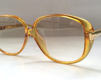80s Vintage Austrian COBRA Golden Brown NOS Womens Big Sunglasses