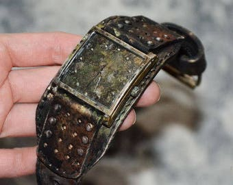 Mens wrist watches - Steampunk watch - Leather wrist watch - Vintage watch mens - Fossil watch