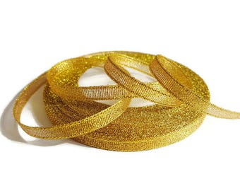 Ribbon 6 mm gold sequin