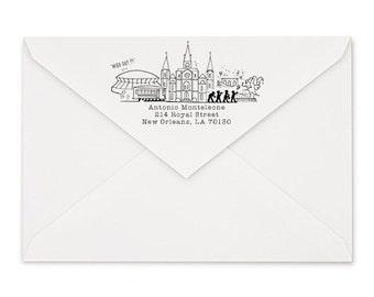 New Orleans, Louisiana Custom Return Address Stamp