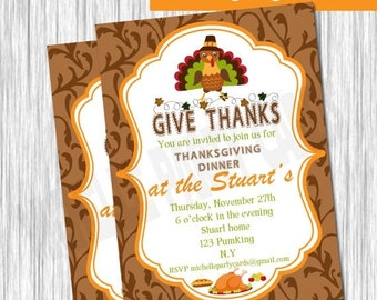 50%Off Thanksgiving Invitation-Give Thanks
