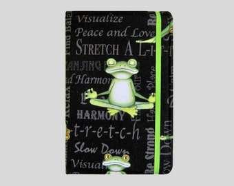 Kindle Cover Hardcover, Kindle Case, eReader, Kobo, Kindle Voyage, Kindle Fire HD 6 7, Kindle Paperwhite, Nook GlowLight Yoga Frogs