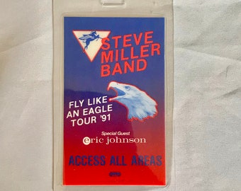 Unused laminated OTTO back stage pass Steve Miller Band 1991 Fly Like an Eagle Tour concert