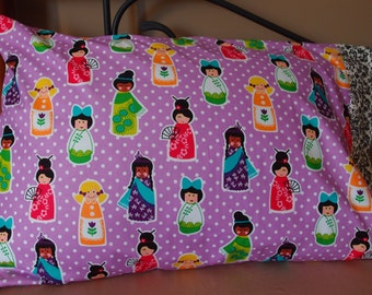Multicultural Ethnic Faces Pillowcase~Asian~African~Indian~standard size~Michael Miller fabric