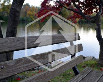 Bench with Serene Lake in the Fall Seasonal Photo Digital Download