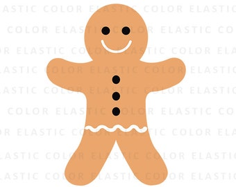 Gingerbread svg  -  gingerbread clipart - gingerbread silhouette - cut file for cameo and cricut  svg, png, dxf, eps