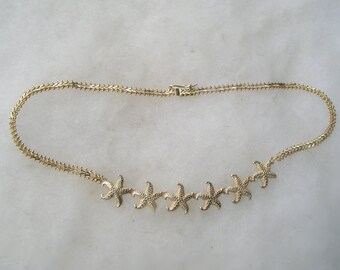 Vintage Sterling Premex MP76 925 Starfish Necklace