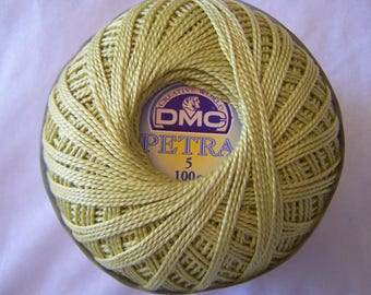 Pearl Cotton DMC 5165, green bamboo shoot, to crochet