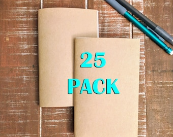 Bulk Kraft Notebooks, 3.5 x 5.5 Inch, Journals, Sketchbook, Small Kraft Journals, Pocket Size Notebook, Notes, Kraft Notebook- 25 PACK