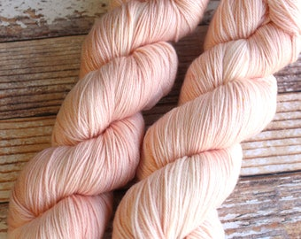 Ines - Coral - Hand Dyed Yarn - 100% Super Wash Merino