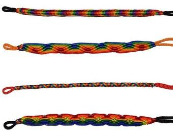 Modern Pride Handmade Rainbow Friendship Bracelet Set