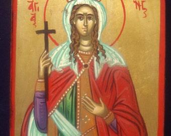 Saint Irene .hand painted icon..greek icon.religious icon.st IRENE.gift.Saint icon.christian icons.catholic icons 11x14cm