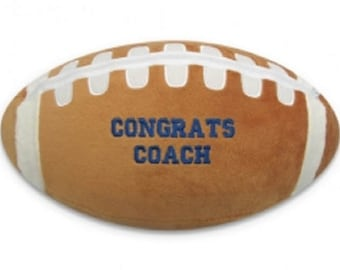 Embroidered Personalized Football, Baseball or Softball Pillow