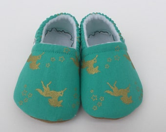 Unicorn baby booties, slippers, crib shoes, shoes