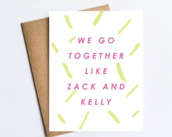 Zack and Kelly - NOTECARD - FREE SHIPPING!