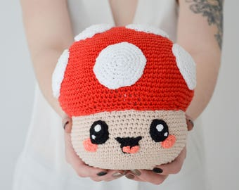 Crochet PATTERN No 1709 Mushroom by Krawka,