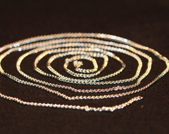 5 Feet of Chain Silver-plated Curb 2.5cm Unfinished