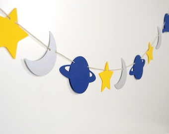 Space Universe Paper Garland 5 ft.