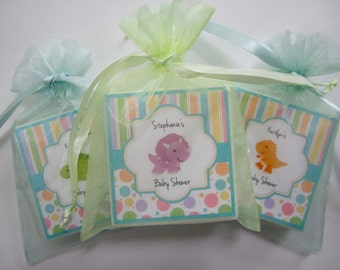 Baby  Shower Favors,  Dinosaur Favors,  set of 12, soap favors