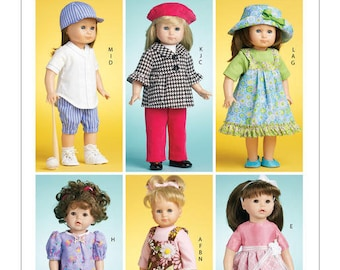 """McCalls 6137 - Doll Clothes for 18"""" Doll"""