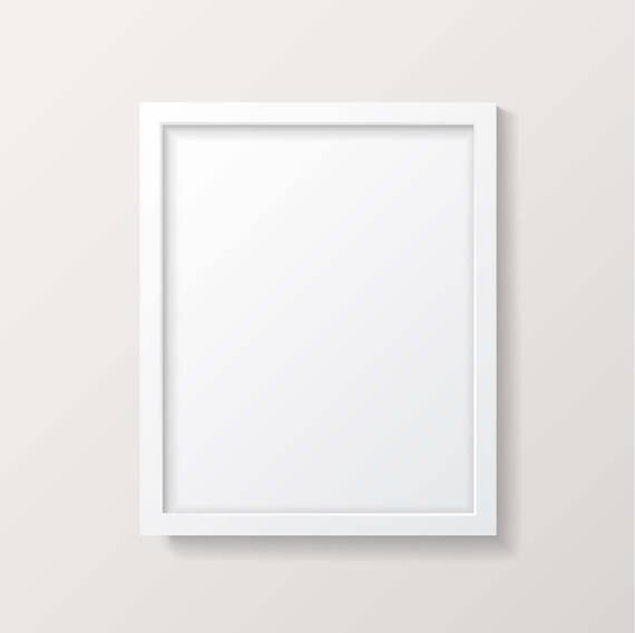 Frame mockup white picture frame empty frame poster mock for What to do with empty picture frames