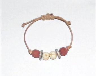 Adjustable lava rock oil diffuser bracelet