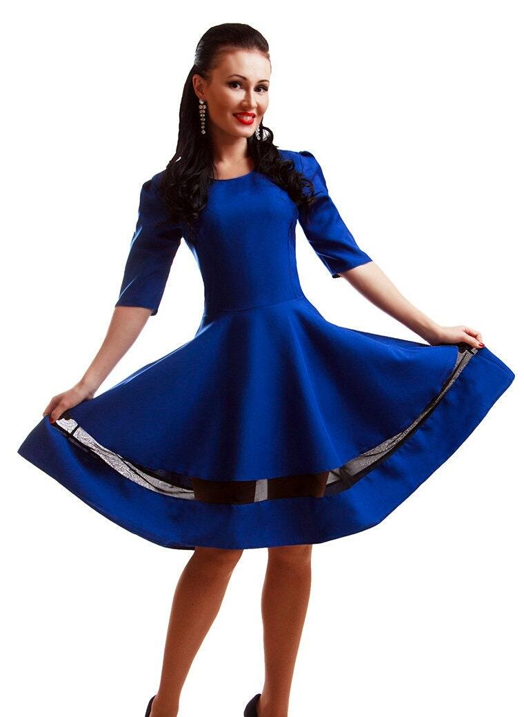 Königsblau Anlass Kleid Cocktailkleid Kobaltblau Kleid Prom