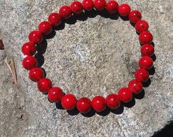 Red Jade Meditation Bracelet