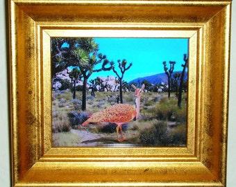 Mini Quirky picture, Birdeer in Joshua Tree,  Color