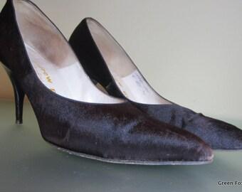 1950's or 60's Andrew Geller Calfskin Stilettos in Black