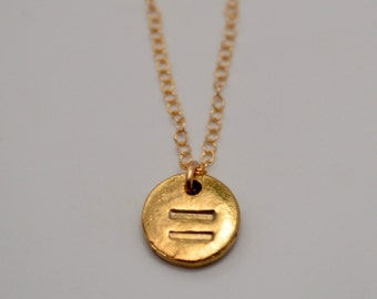 Equality Necklace, Gay Rights Necklace, Equal Sign Necklace, LGBT Necklace, One Love