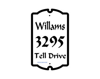 Colonial Style House Number Sign